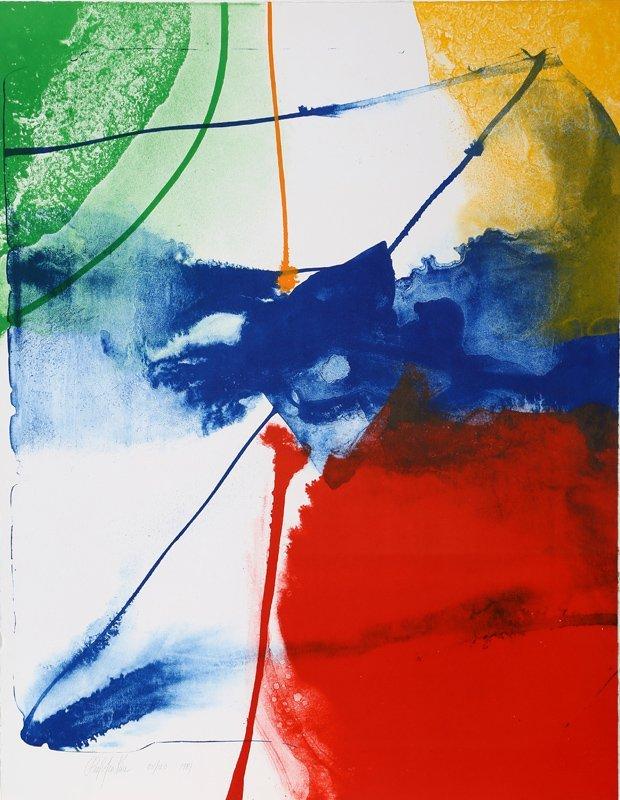 Paul Jenkins, Sheffield Blue, Lithograph