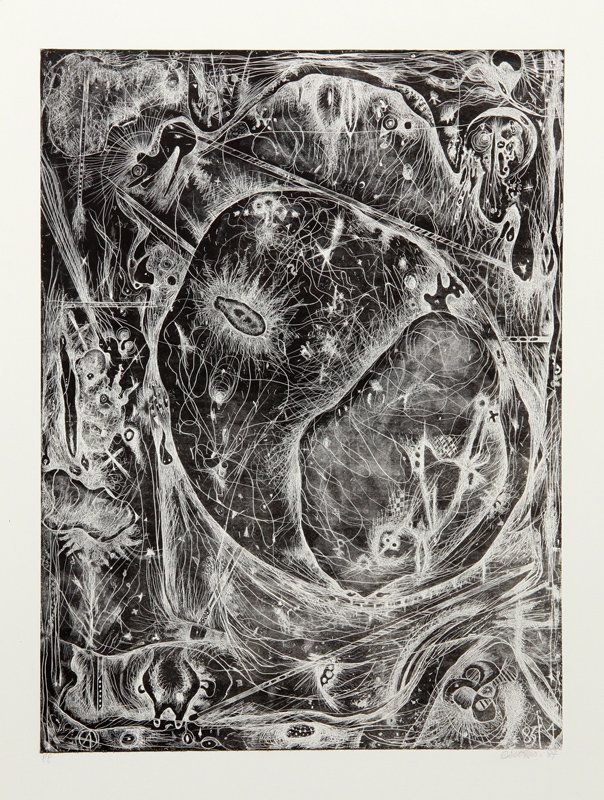 Alfonso Ossorio, Untitled Abstract VI, Etching