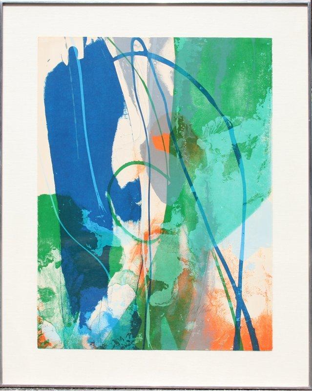 Paul Jenkins, Aviary, Lithograph