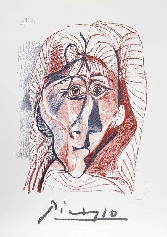 Pablo Picasso, Visage de Femme de Face, Estate