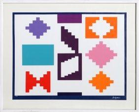 Yaacov Agam, Design Iv, Silkscreen