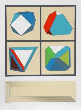 Lucio Del Pezzo, Untitled 2, Silkscreen
