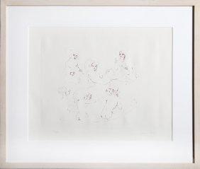 Leonor Fini, Six Nudes, Etching