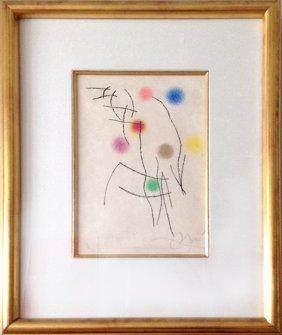 Joan Miro, Miranda La Spirale No. 4 (c. 245) Aquatint