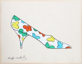 Andy Warhol, Butterfly Shoe From A La Recherche Du Shoe