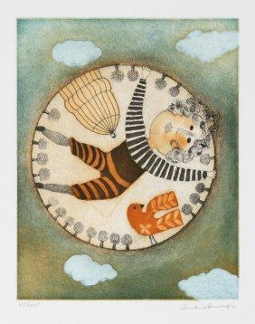 Christine Amarger, La Cage Et L'oiseau, Aquatint