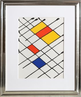 Alexander Calder, Damier From Derriere Le Miroir,
