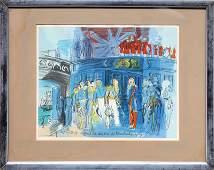 Raoul Dufy, Prince de Joinville Accueilli par un Amiral