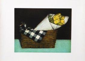 Olivia Munroe, Tulips In Paper, Mezzotint
