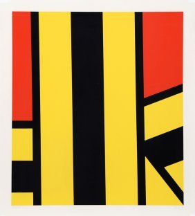 Pierre Clerk, Plate V (yellow And Red), Silkscreen