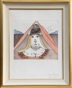 Salvador Dali, The Lady Dulcinea From Historia De Don