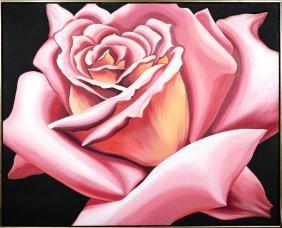 Lowell Blair Nesbitt, Pink Rose, Oil Painting