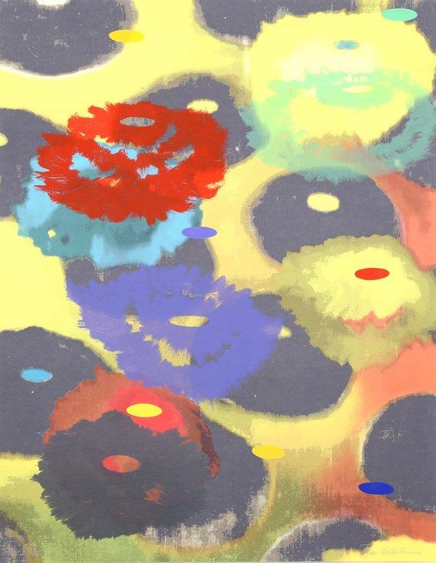 Ross Bleckner, PS III, 27 Color Screenprint