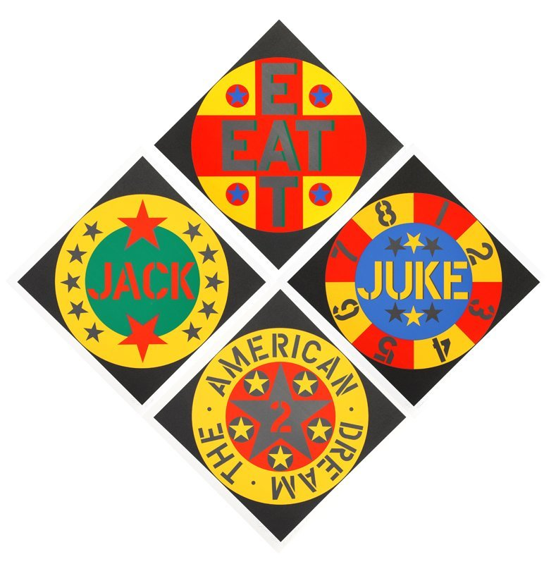 Robert Indiana, The American Dream #2, Suite of Four