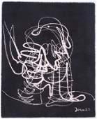 Asger Jorn Abstract Figure Modern Wool Rug