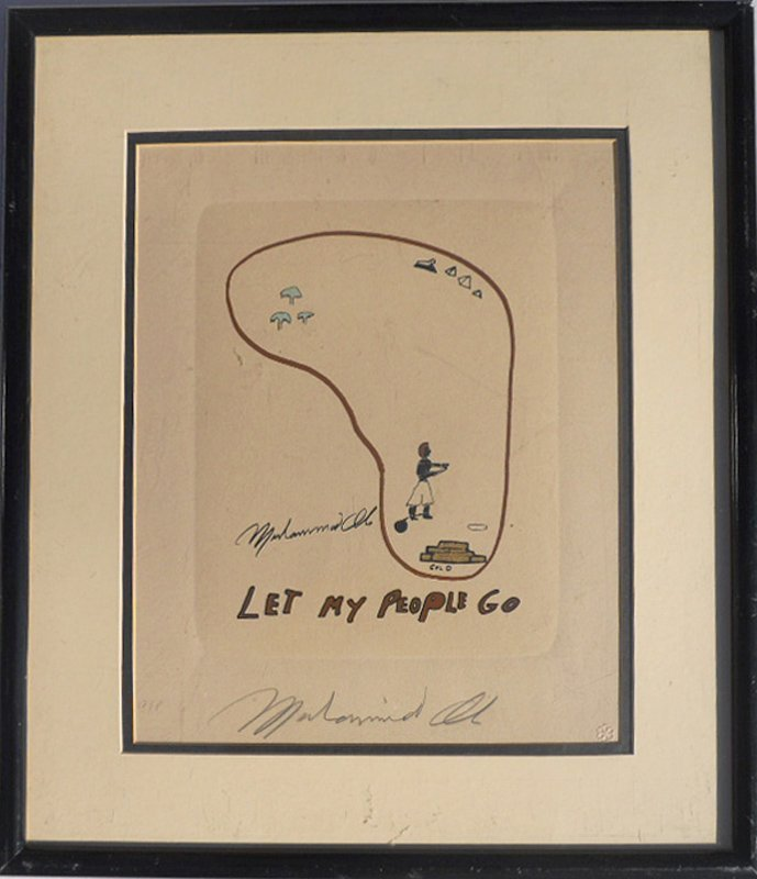 Muhammad Ali, Let My People Go, Lithograph