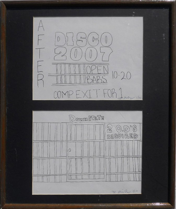 Michael Alig, Disco 2007, Offset Lithograph Diptych