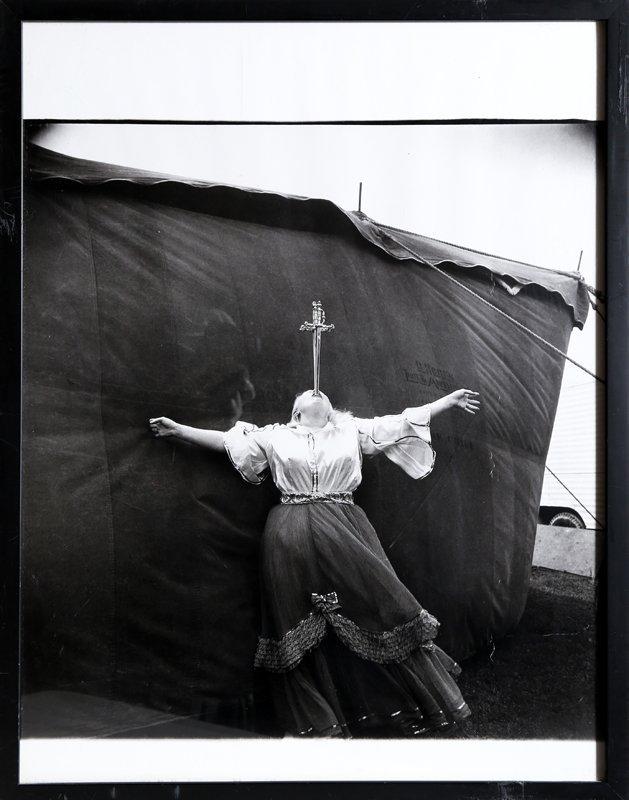Diane Arbus, Albino Sword Swallower at Carnival,