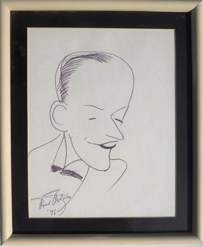 Fred Astaire, Self Portrait, Ink Drawing