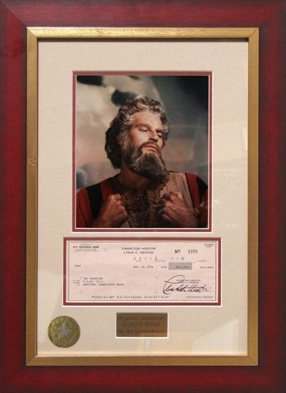 Charlton Heston: The Ten Commandments, Autographed