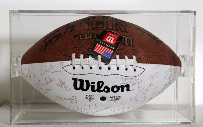 Vikings signed 2000 Superbowl Footballl signed by the