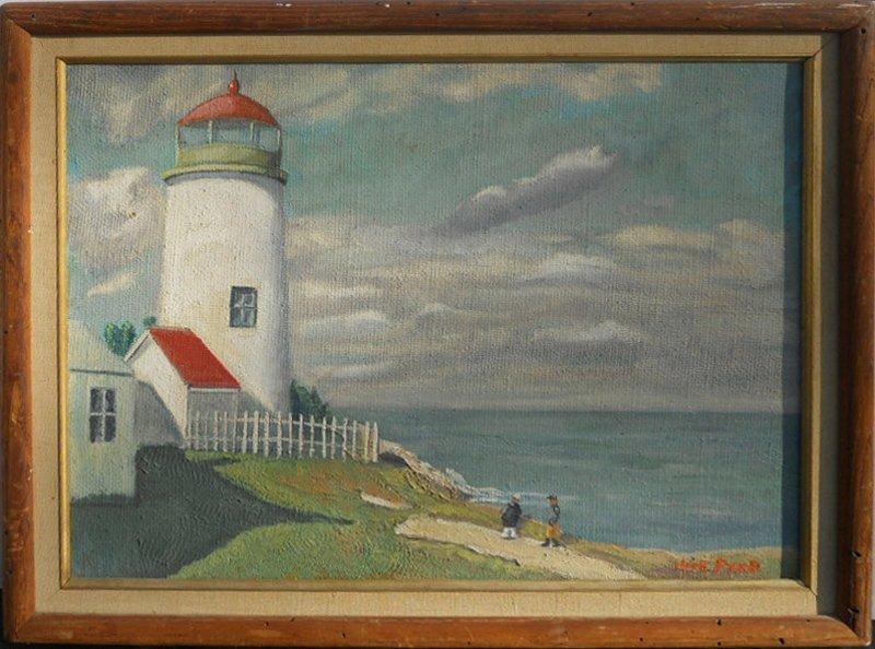 Jack Paar, Lighthouse, Oil Painting