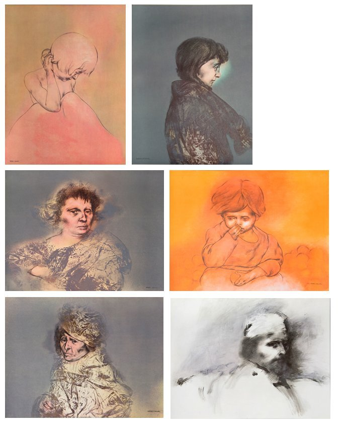 Rafael Coronel, Portfolio of 20 Offset Lithographs in - 6