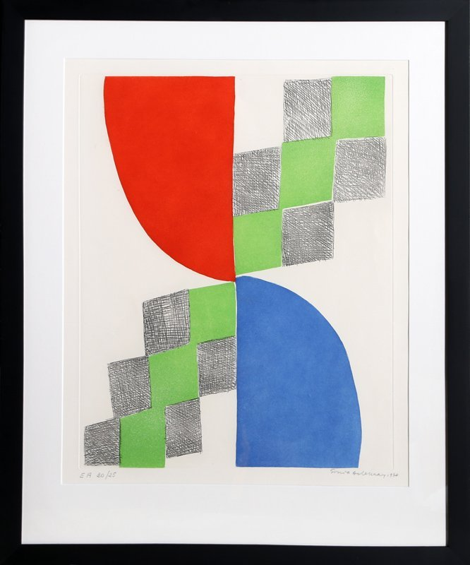 Sonia Delaunay, Untitled II, Aquatint Etching