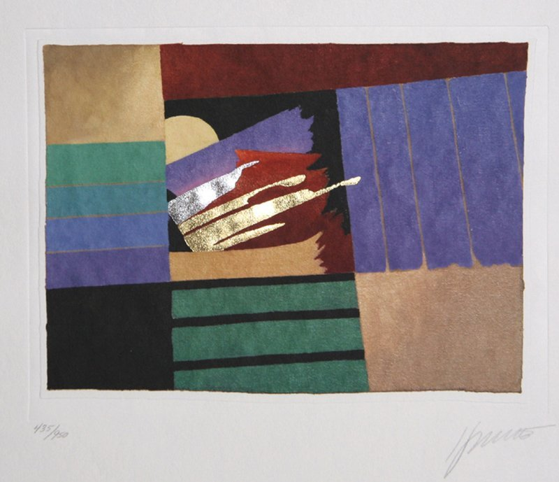 Max Hayslette, Lapis Moon II, Lithograph with Foil