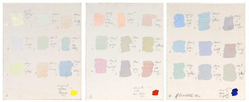 Osvaldo Romberg, Color Classification Series, Acrylic