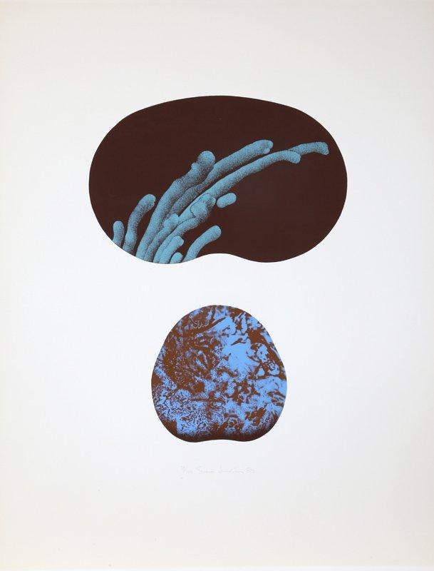 Sven Lukin, Abstract Sea Forms, Silkscreen