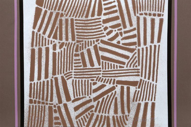 Paul Maxwell, Brown Folk Pattern, Serigraph