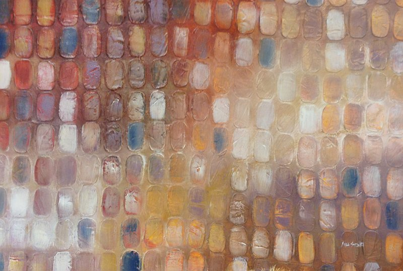 Mia Stone, Interference II, Oil Painting
