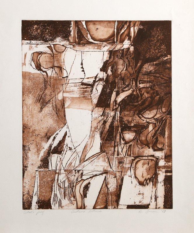 H. Susser, Autumn Interior, Etching