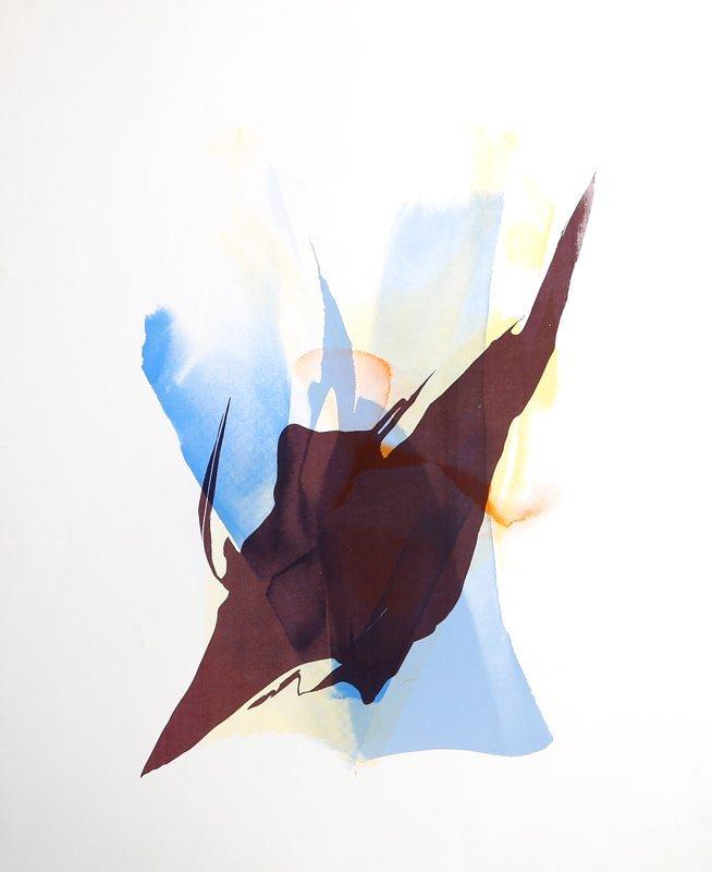Paul Jenkins, Abstract Silkscreen