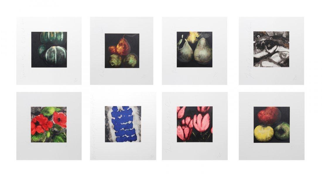 Donald Sultan, Fruits and Flowers Portfolio of 8