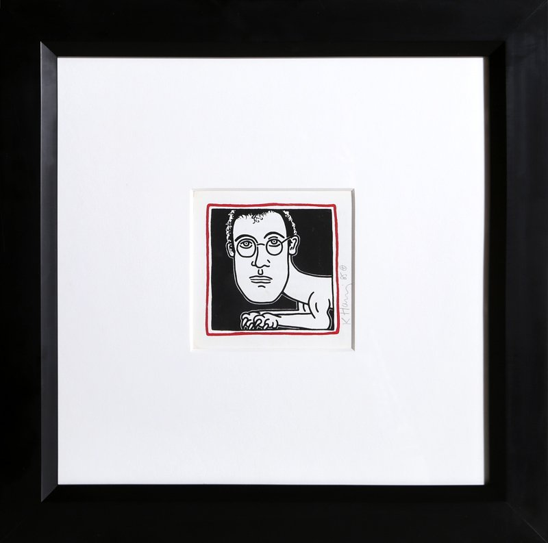 Keith Haring, Self-Portrait (Invitation to Palladium