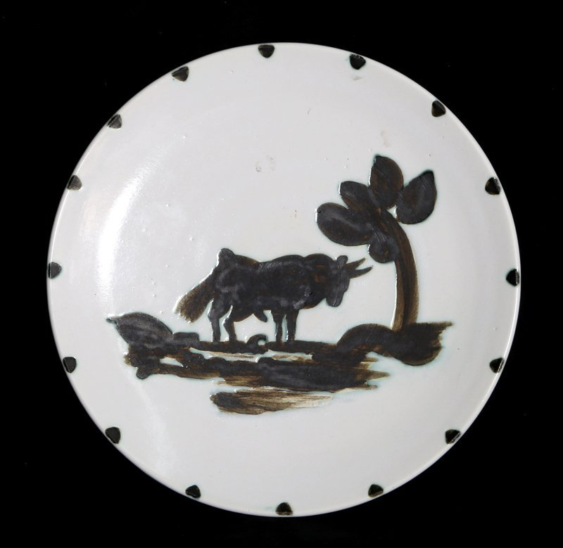 Pablo Picasso, Bull Under the Tree (Ramie 159), Ceramic