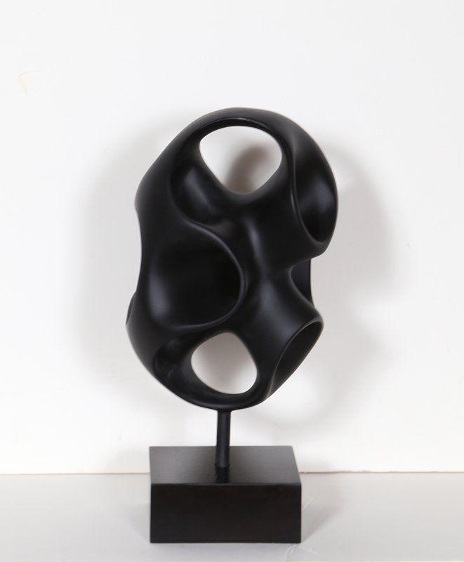 Abstract Modern Sculpture, Cast Resin Sculpture on