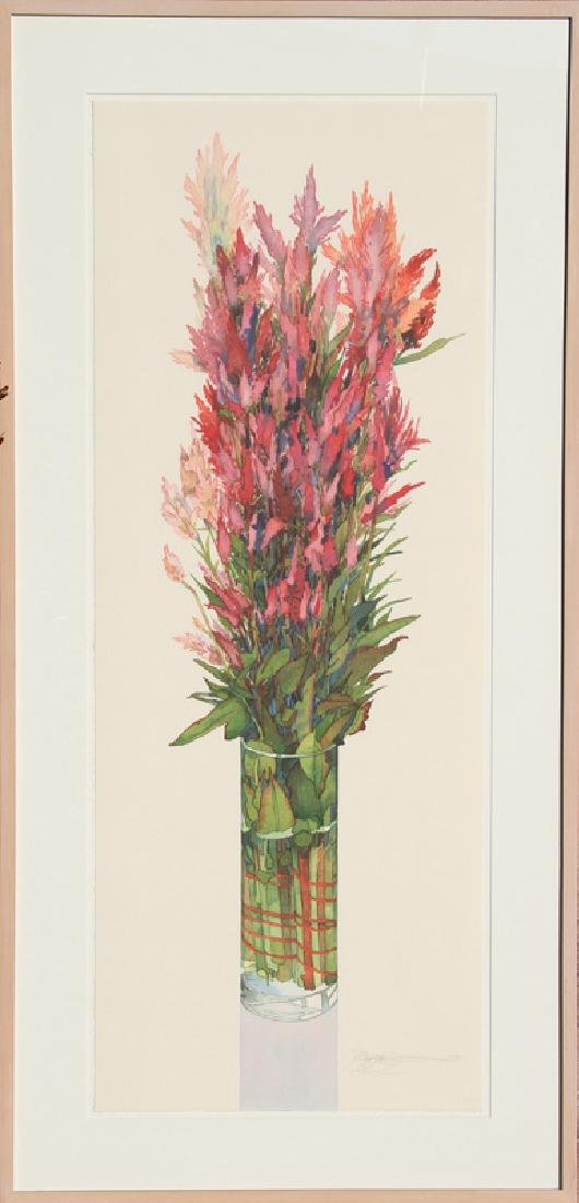 Gary Bukovnik, Flowers in a Vase, Lithograph