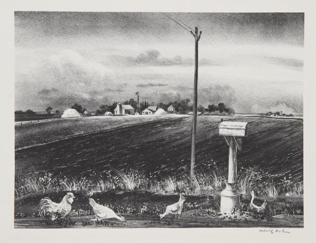 Adolf Arthur Dehn, R.F.D., Lithograph