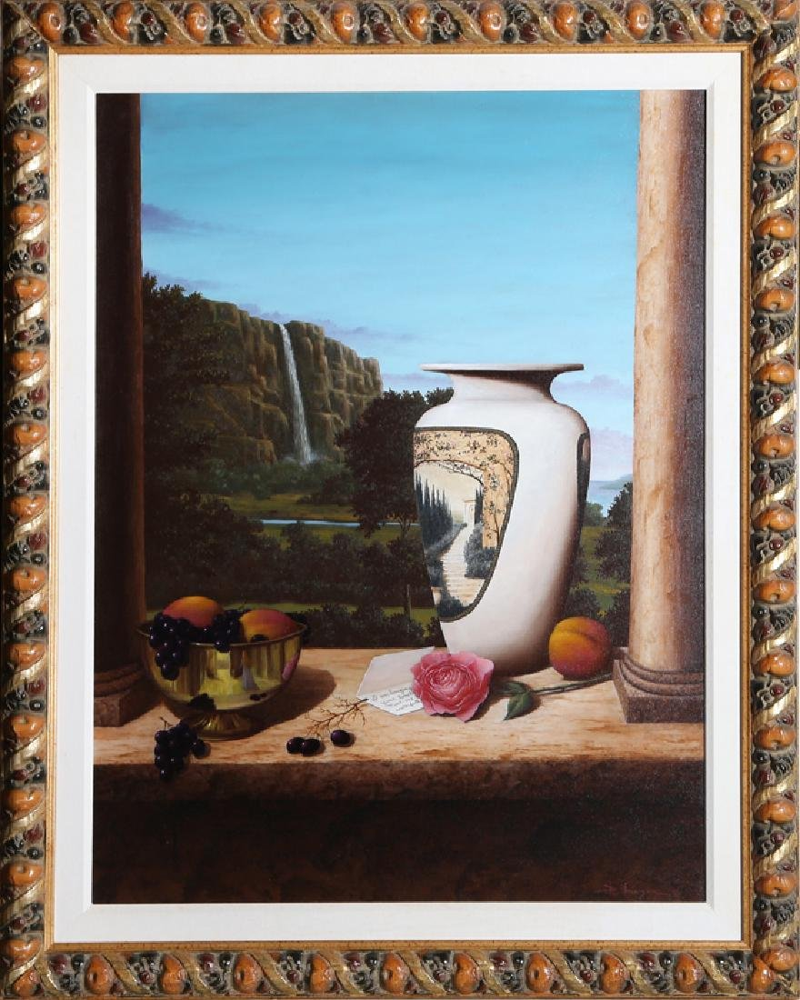 Pat Berger, The Love Letter, Oil Painting