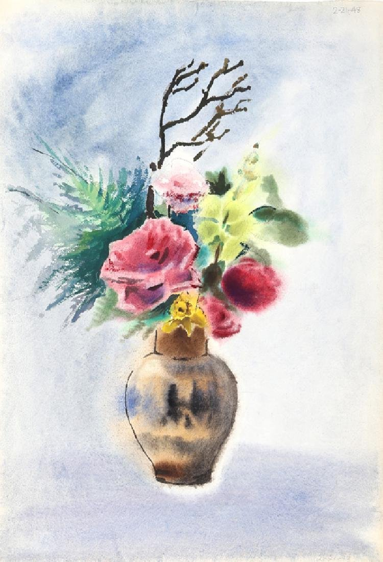 Eve Nethercott, Flowers (P6.49), Watercolor Painting