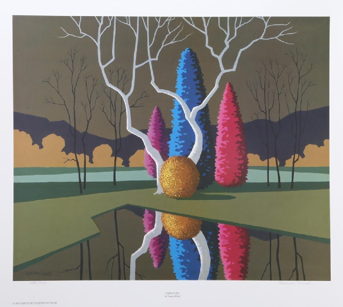Vernon Wood, Silent Pond, Offset Lithograph
