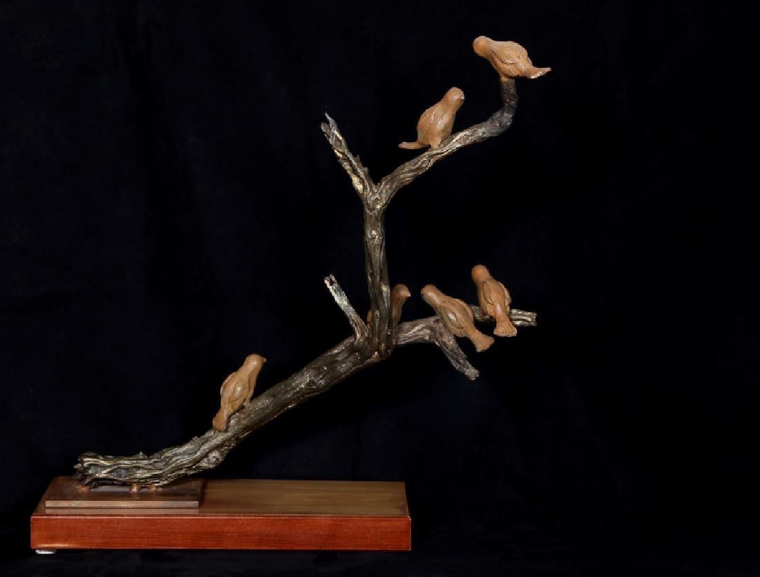 Nili Carasso, Meeting, Bronze Sculpture