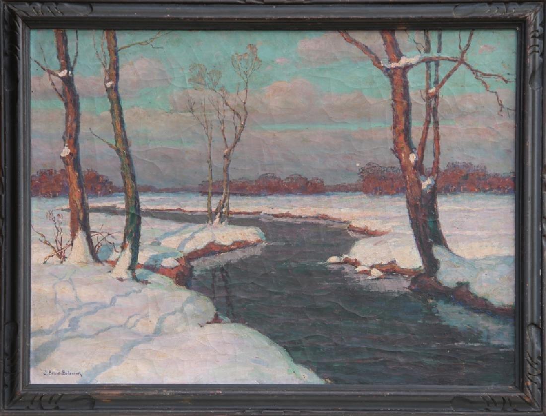 Jean-Jacques Berne-Bellecour, Snowy River Landscape,