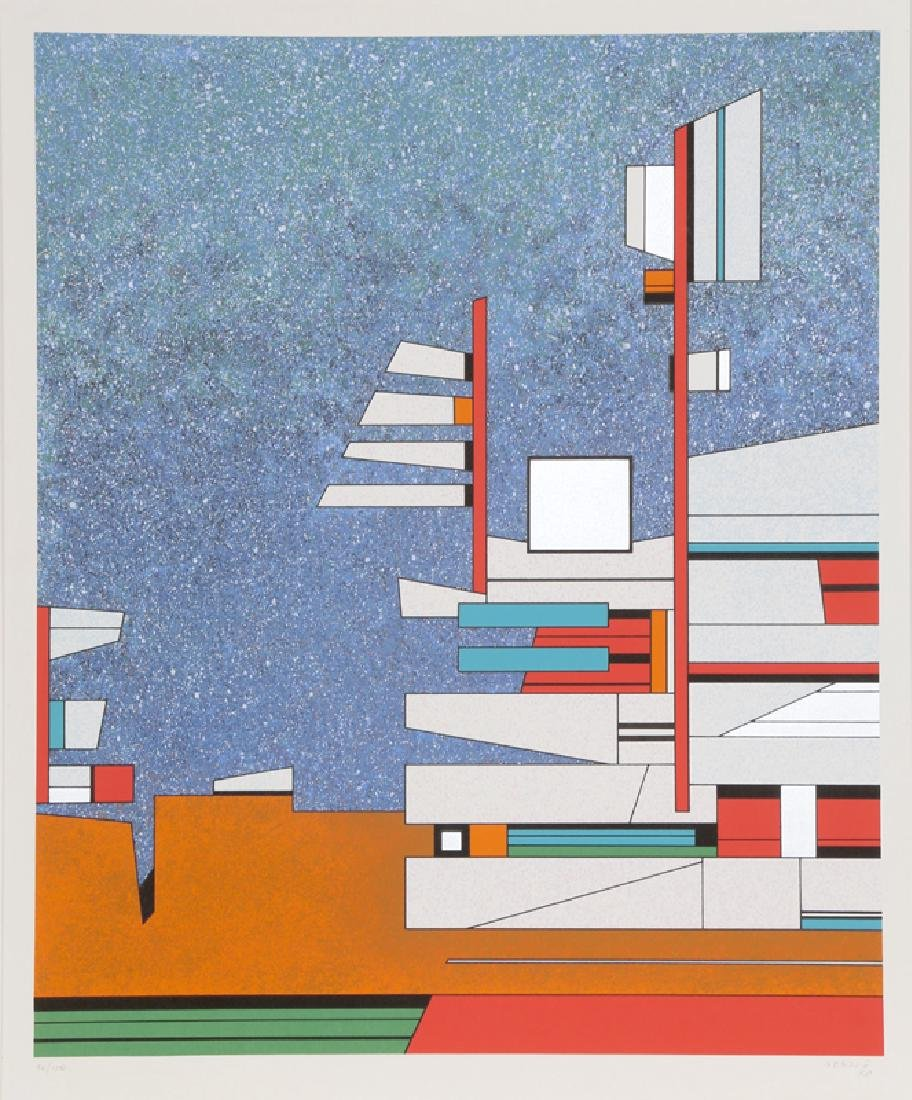 Gunther Gerszo, La casa de Tataniœh, Screenprint