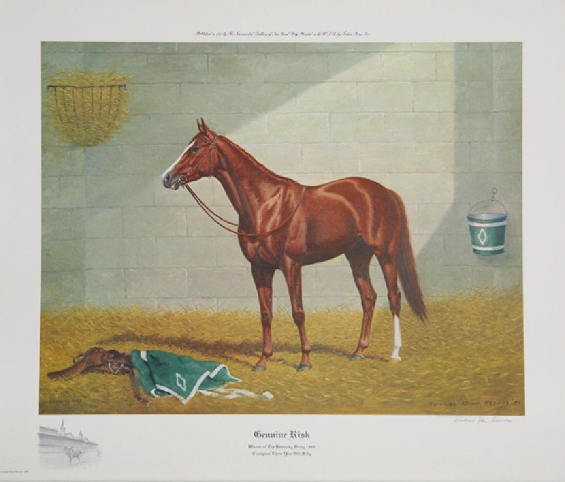 Richard Stone Reeves, Genuine Risk, Offset Lithograph