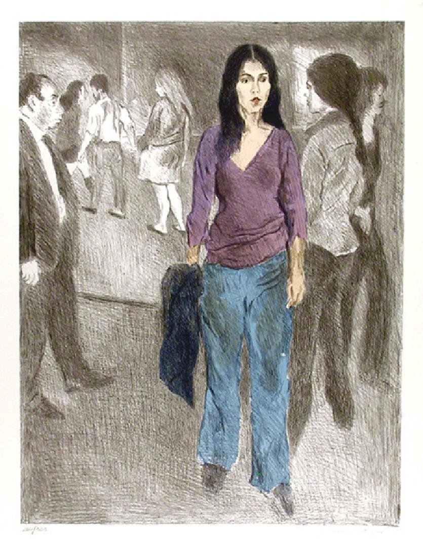 Raphael Soyer, Passing By (Street Scene #3), Lithograph