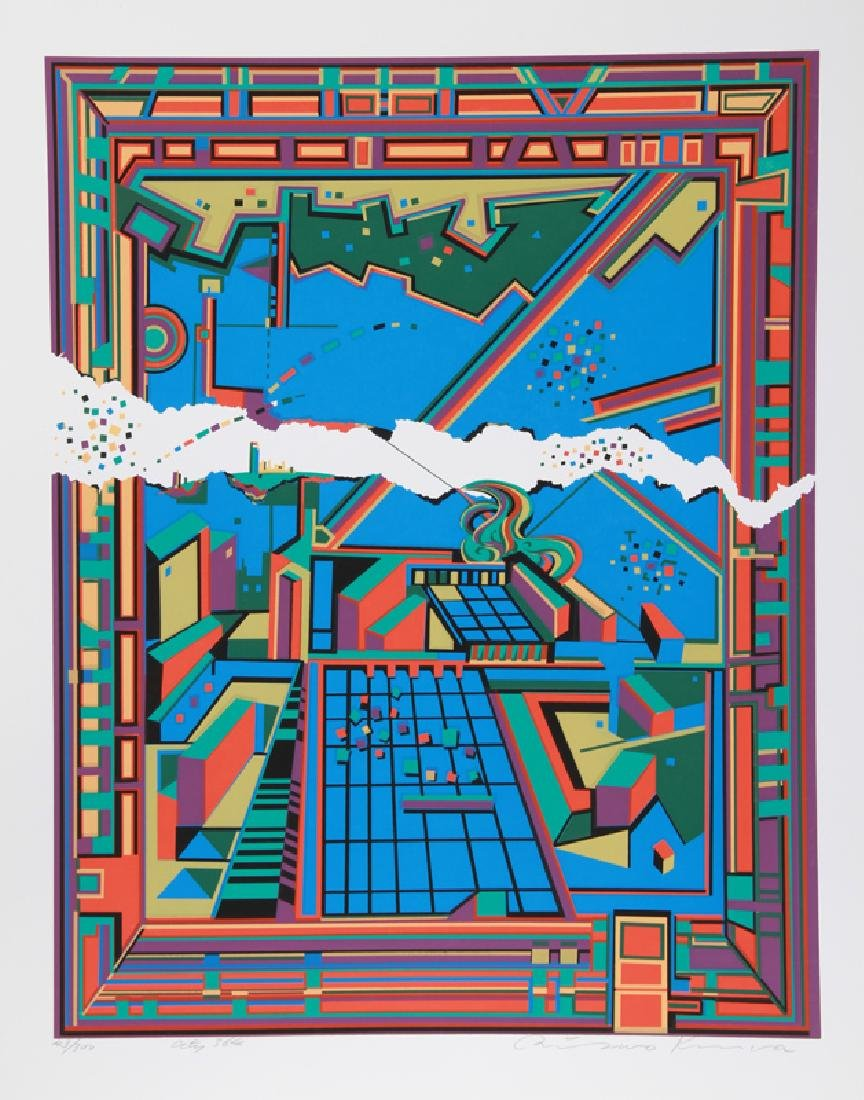 Risaburo Kimura, City 364, Serigraph